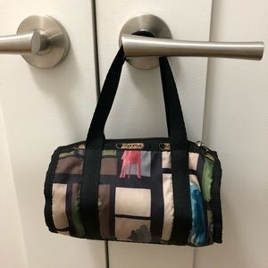 LeSportsac mini duffel colorful bag purse